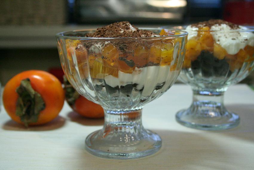 Десерт из хурмы и чернослива