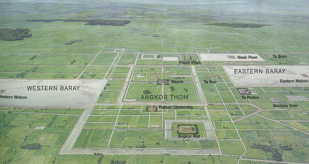 плане виден Ангкор Ват,