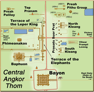 Ангкор Том, центральная часть