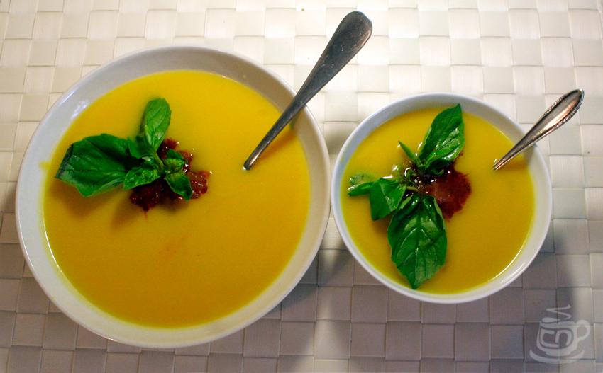 Тыквенный суп-пюре с медом и базиликом, 2012