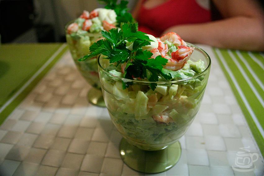 Праздничный салат с крабовым мясом, 2012