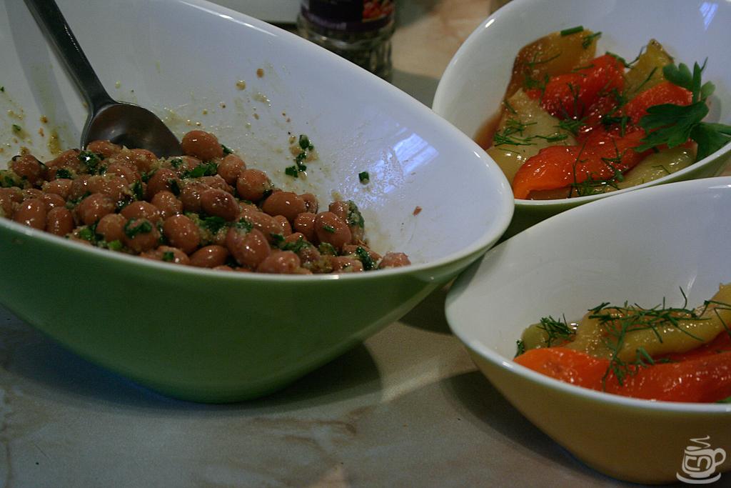 Каталонский перечный салат с фасолью и пикадой, 2014