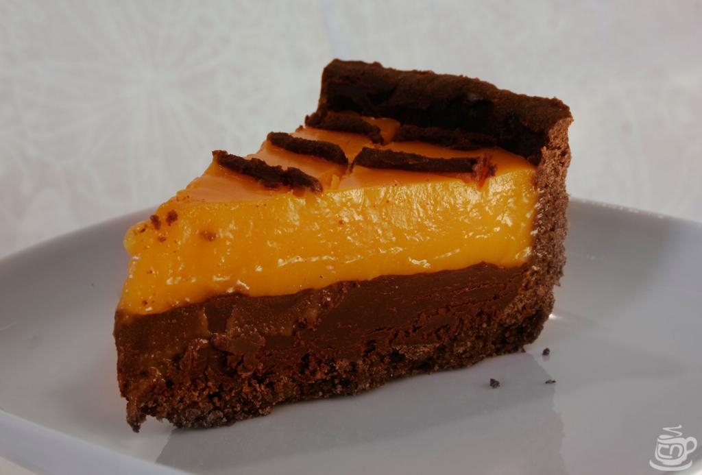 Черемуховый тарт с шоколадным ганашом и облепиховым курдом, 2015